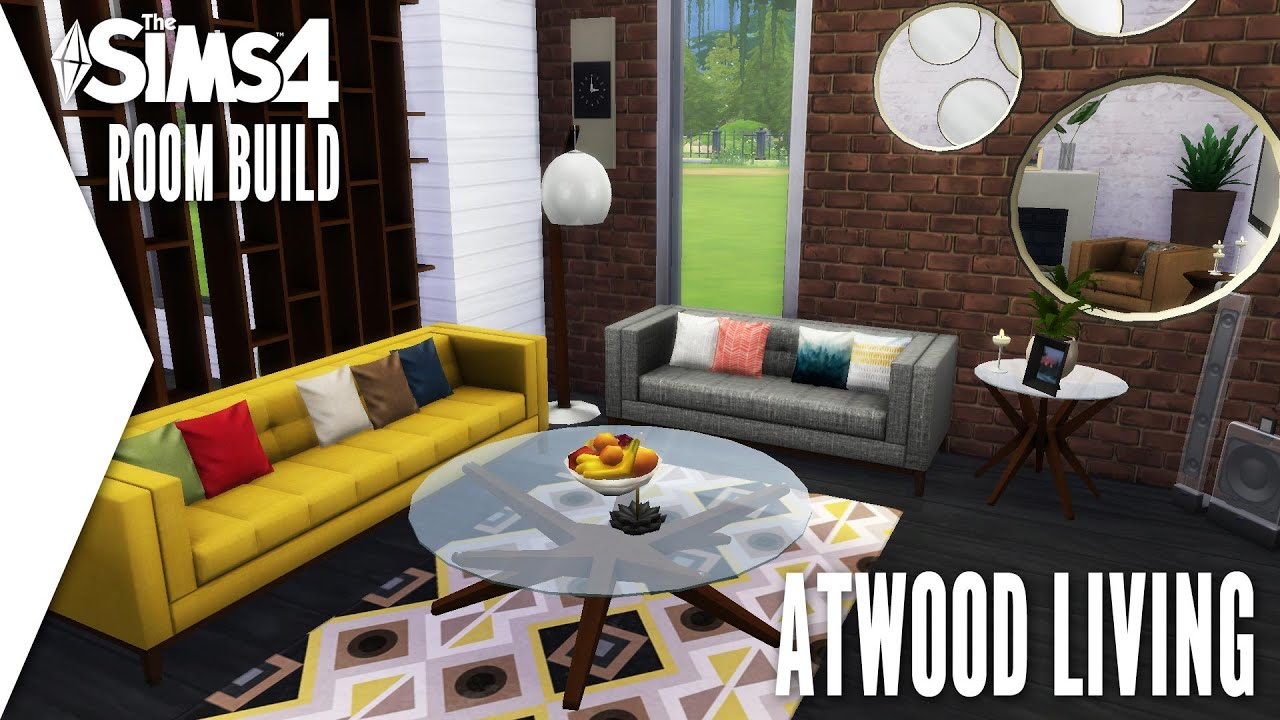 THE SIMS 4 ROOM BUILD 2 ATWOOD LIVING W CC