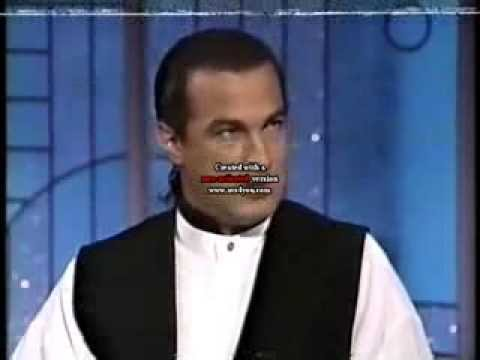 """Seagal on arsenio hall show promoting """"Marked for Death"""" in 1990"""