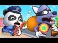 警察抓大灰狼 | 最新大灰狼兒歌童謠 | 職業體驗卡通動畫 | 寶寶巴士 | 奇奇 | Learn Chinese | BabyBus