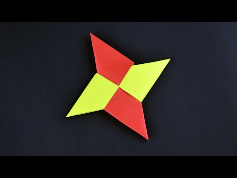 How To Make a Cool Paper Ninja Star ★ Shuriken Origami