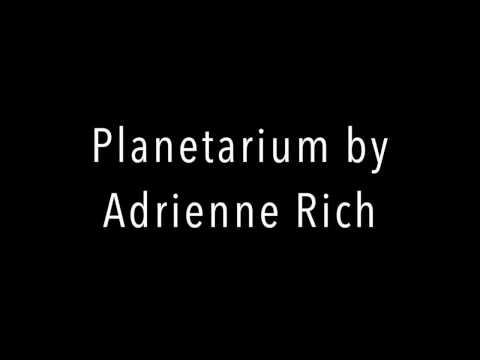 Planetarium by Adrienne Rich