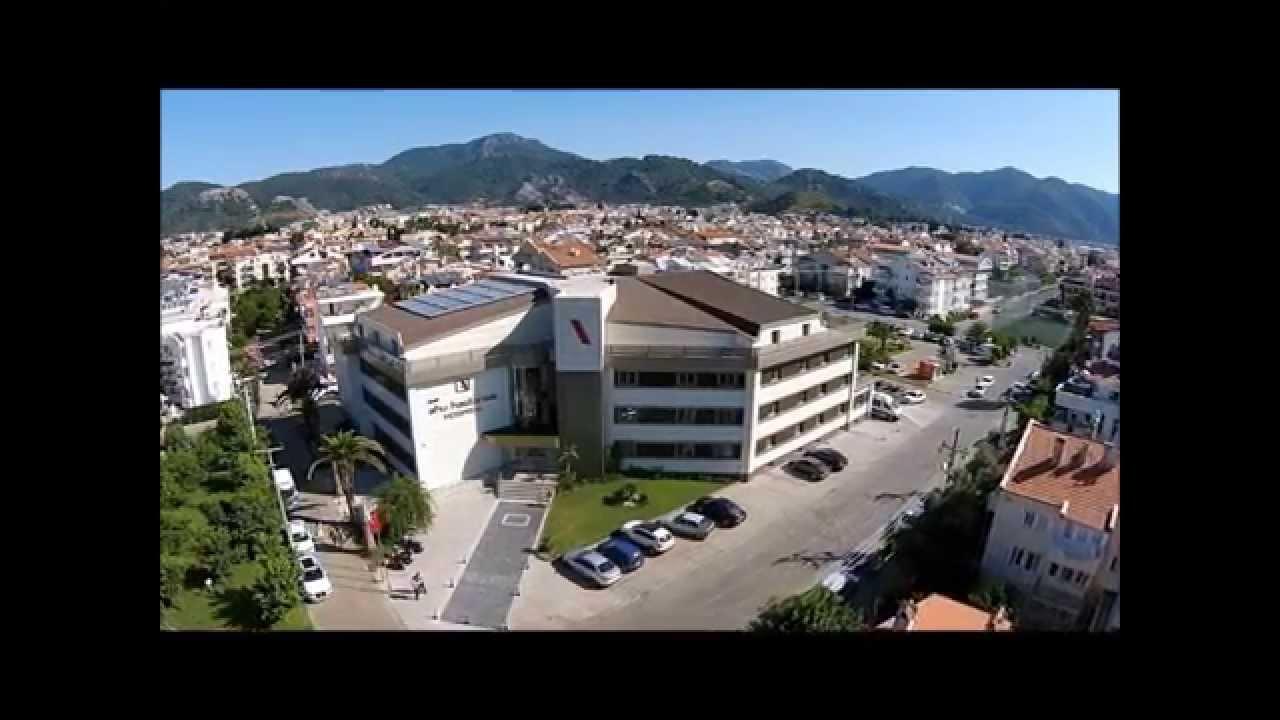 Aerial View of Ahu Hospital and Marmaris - YouTube
