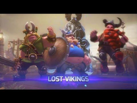 видео: hots!! Первый взгляд на Потерявшихся Викингов!