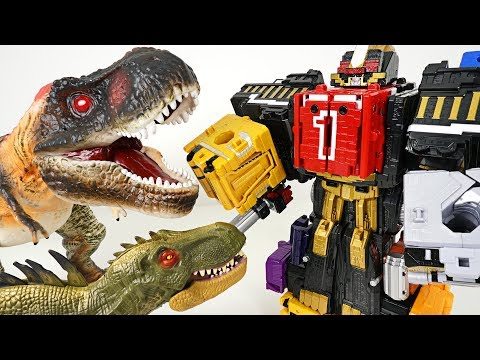 Power Rangers Zyuohger Wild Ride King Combine!! Defeat the terrible dinosaurs! - DuDuPopTOY
