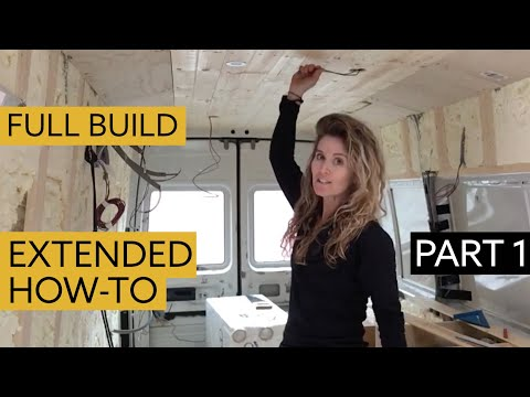 how-to-convert-a-van-into-a-chic-home---detailed-view-part-1:-insulation,-stud-work-&-cutting-holes
