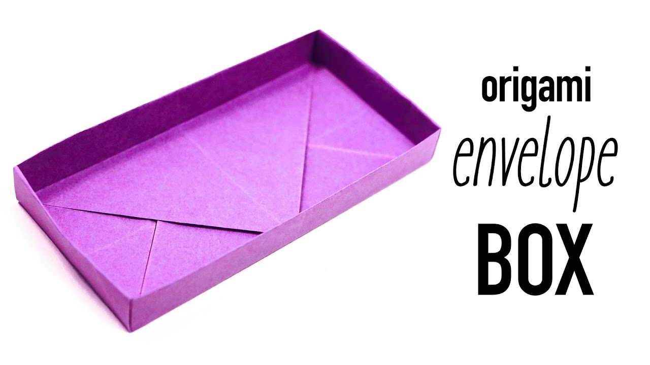 Papercraft Origami Rectangular 'Envelope' Box Tutorial