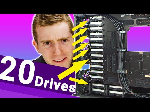 320 TERABYTES in a normal case!!  The DIY 4k editing NAS