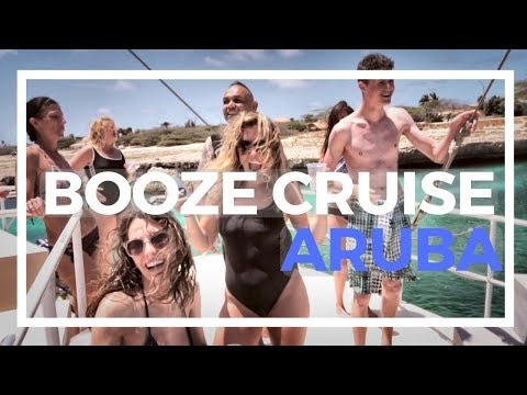 BOAT BOOZE CRUISE AND SNORKELING IN ARUBA - TRAVEL VLOG - MI DUSHI