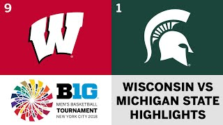 2018 Big Ten Men's Basketball Tourney: Wisconsin vs. Michigan State