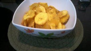 நேந்திரங்கா சிப்ஸ்/Banana chips/Green banana chips (Kerala special) with English subtitles
