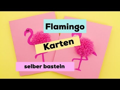 karten selber machen diy ideen mit flamingos youtube. Black Bedroom Furniture Sets. Home Design Ideas