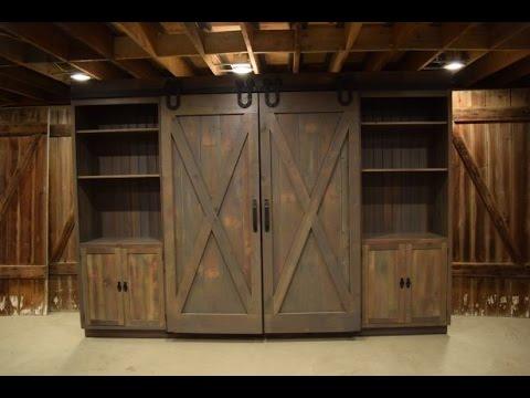 Barn Door Hutch cabinet