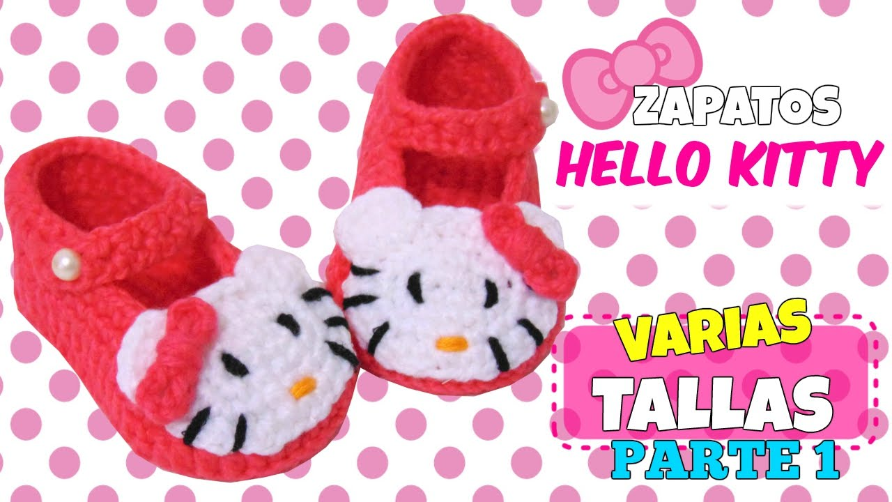 Zapatitos de Hello Kitty tejidos a crochet | parte 1/2 - YouTube