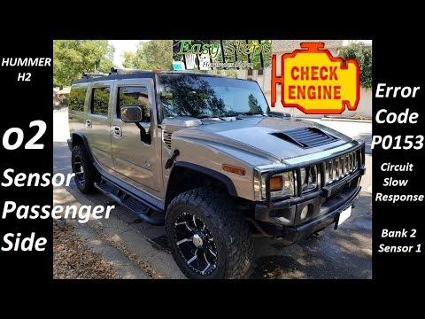 How To Install Oxygen o2 Sensor Passenger Side on Hummer | Code P0153