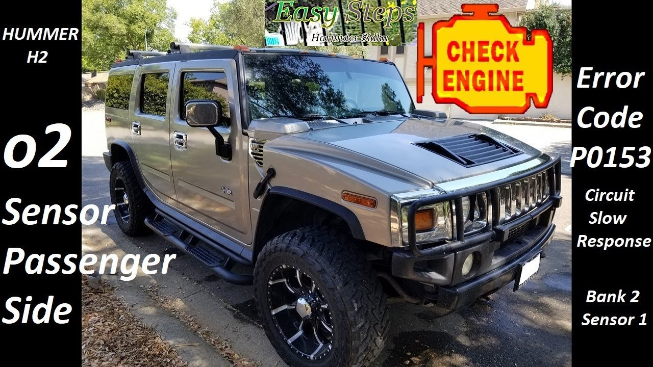 How To Install Oxygen O2 Sensor Passenger Side On Hummer Code 2005 H2 Wiring Diagram P0153