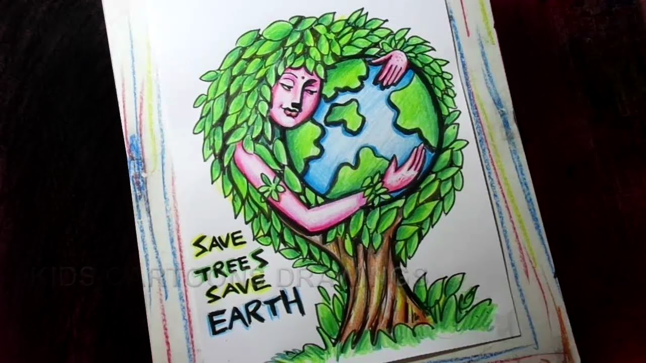 Save Earth Save Water Save Trees Drawing Save Earth Poster Youtube Cute766
