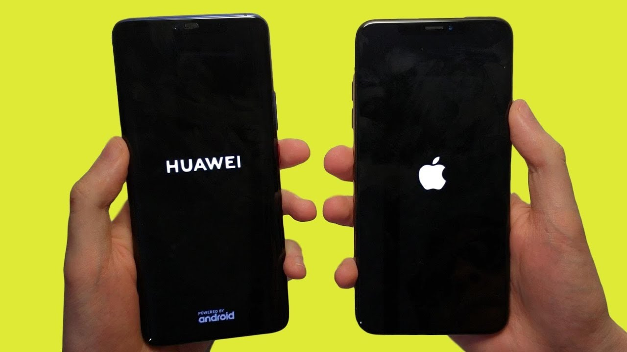 Huawei Mate 20 Pro vs iPhone XS Max Speed Test, Speakers & Cameras!