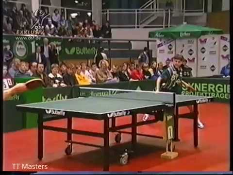 Tischtennis Bundesliga: TTV RE-BAU Gonnern vs Post SV Telekom Mulheim Feb 1998
