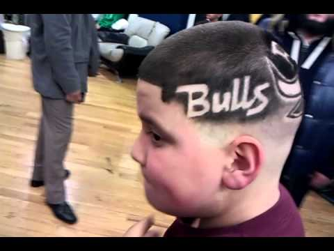 chicago bulls d rose and chi town skyline haircut youtube