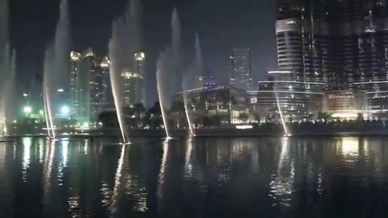 Espectaculo de luces dubai fountain youtube for Espectaculo de dubai fashland