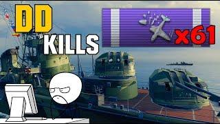 AA skilled DD kills 61 Midway Planes ► AKIZUKI - World of Warships