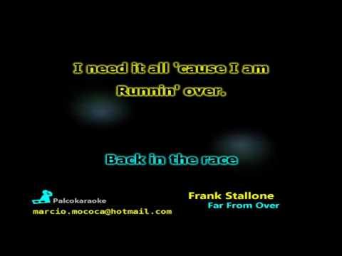 Frank Stallone   Far From Over - Karaokê