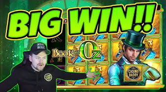 Huge Win! Book Of Oz BIG WIN - Epic Win on Online slots from CasinoDaddy LIVE Stream
