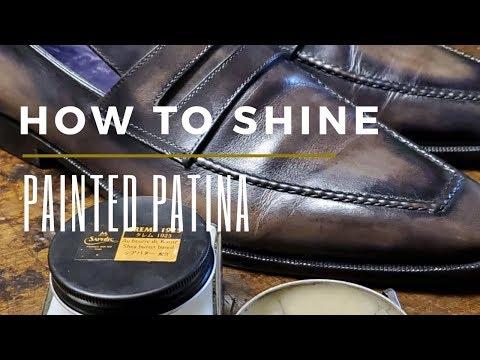 Painted Patina Shoe Shine   How To Polish Patina Shoes