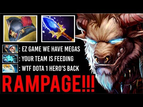 DOTA 1 IMBA HERO IS BACK! Pirate Hat + Scepter Tauren RAMPAGE Most Crazy Megas Def Comeback Dota 2
