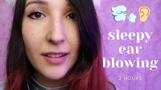 ASMR - SLEEPY EAR BLOWING ~ Ear to Ear Breathing & Mic Blowing Sounds | 2 HOURS ~