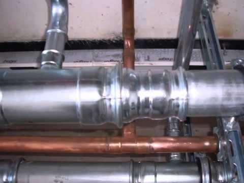 ▶Монтаж крышной котельной на базе котлов Buderus GB162-100