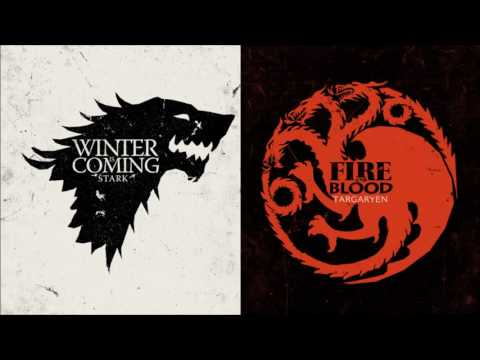 Game Of Thrones  Song of Ice and Fire  House StarkTargaryen themes combined