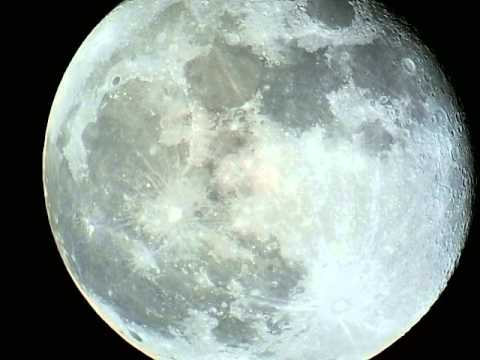 Video recording the moon, with our advanced WIFI TELESCOPE