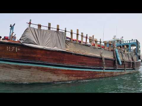 Big Dhow ship leaving Dubai Creek 31.07.2016