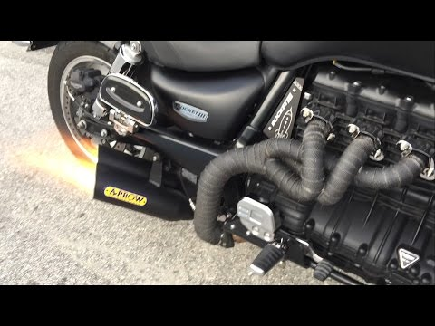TRIUMPH ROCKET III , NEW UNIQUE EXHAUST SOUND CHECK !!!  Made By Kopi!