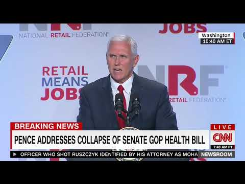 Pence rips Congress over failure to repeal Obamacare: The time to act is now
