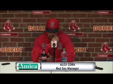 Red Sox Vs. Athletics: Alex Cora AMICA Pregame News Conference