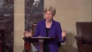 "Senator Elizabeth Warren: President-Elect Trump Already Broke Promise to ""Drain the Swamp"""