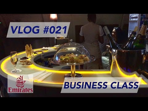 Emirates A380 Business Class Taipei to Dubai - Amazing NEW Lounge Experience [1080p60]