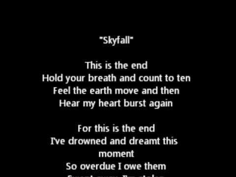 Skyfall text