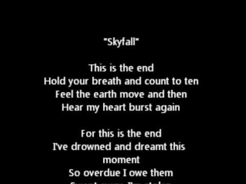 Skyfall (one hour loop, with lyrics)
