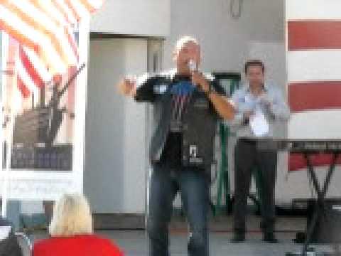 New York Myke at Oceanside Tea Party Rally 10.10.10
