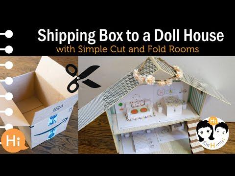 DIY: Cardboard Dollhouse - Recycled Craft Ideas (Super Easy!)