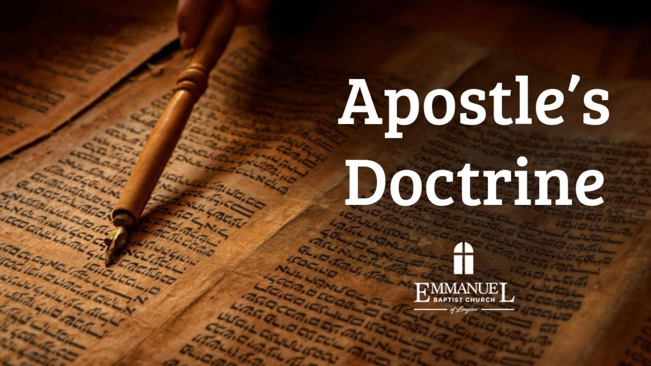 Apostle's Doctrine - Wednesday PM 6/3/20 - Pastor Bob Gray II