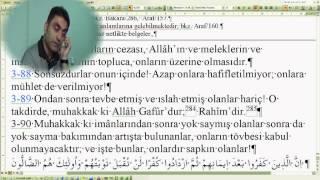 Al-i İmran suresi 90--91 (Doç. Dr. Halis AYDEMİR)