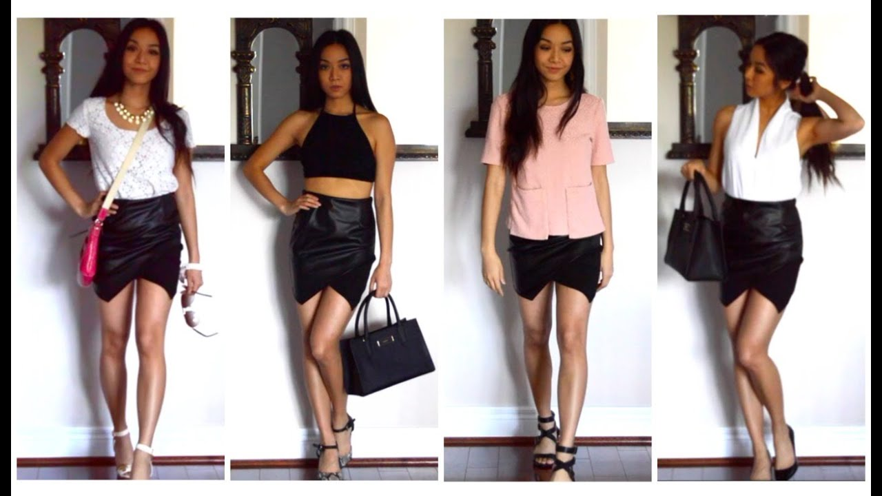 DRESS UP AND DRESS DOWN YOUR LEATHER SKIRT - YouTube