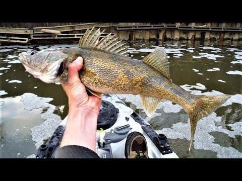 Indiana kayak fishing jigging walleyes 11 7 14 youtube for Fish in indiana