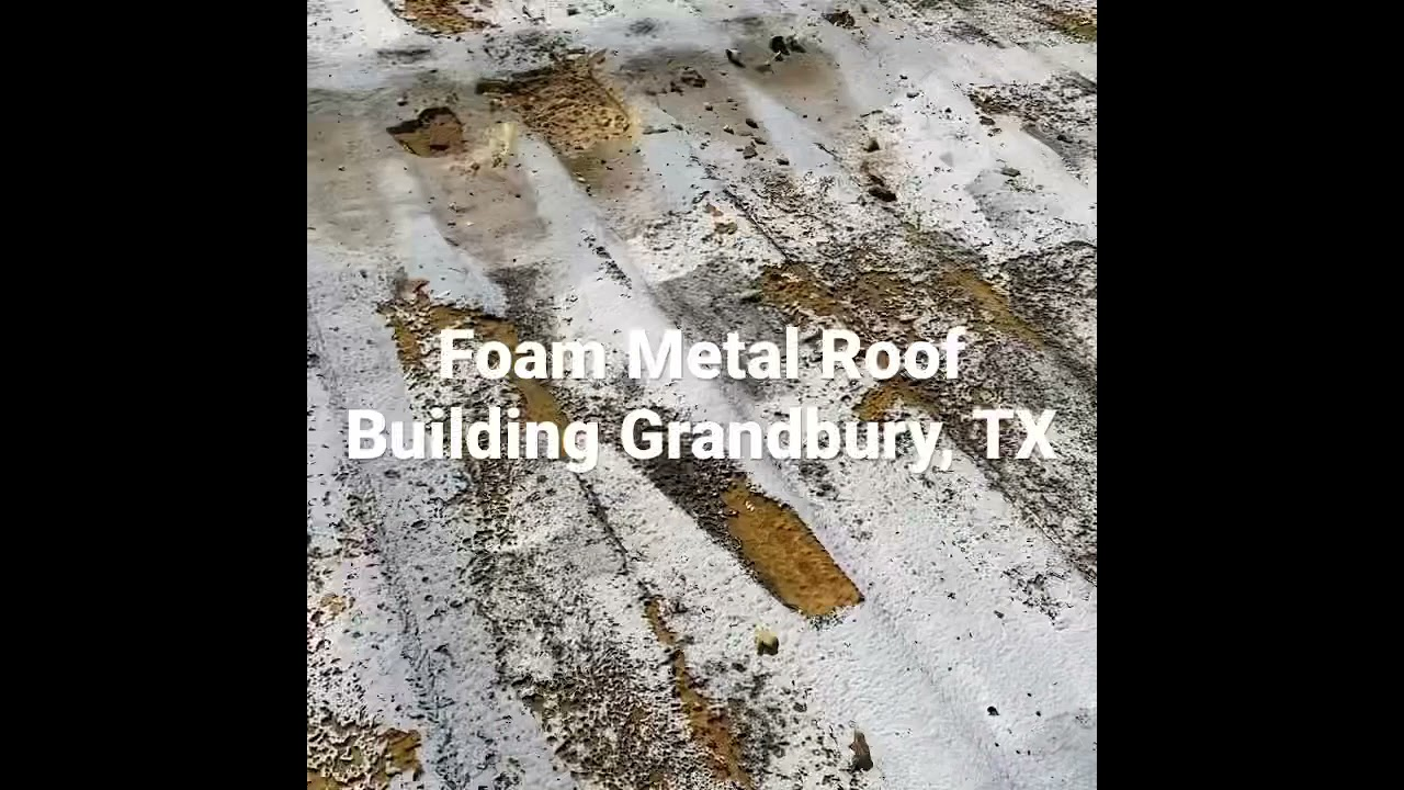 Foam Insulation metal building. Free inspections Hail resistant 817-204-9450 Roof Top commercial TX