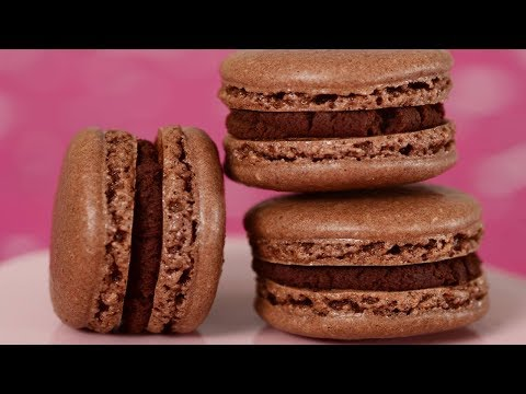 Chocolate Macarons Recipe Demonstration - Joyofbaking.com