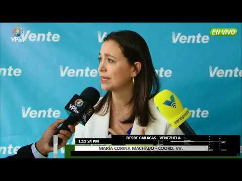 Venezuela - Maria Corina Machado se pronuncia sobre la fuga de Antonio Ledezma